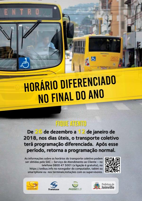 Horários Diferenciados de Fim de Ano - 26/12 a 12/01
