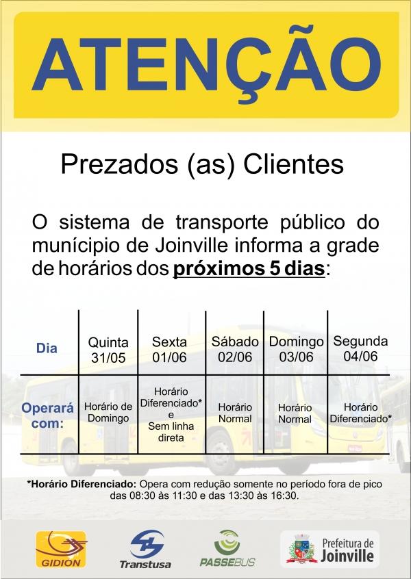 GRADE DE HORÁRIOS ÔNIBUS PRÓXIMOS DIAS