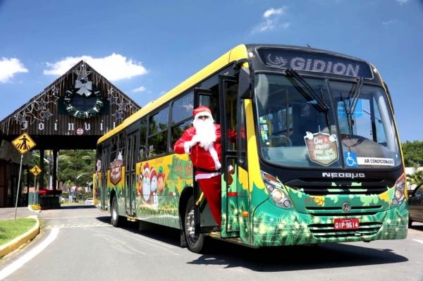 Transporte coletivo entra no clima de Natal