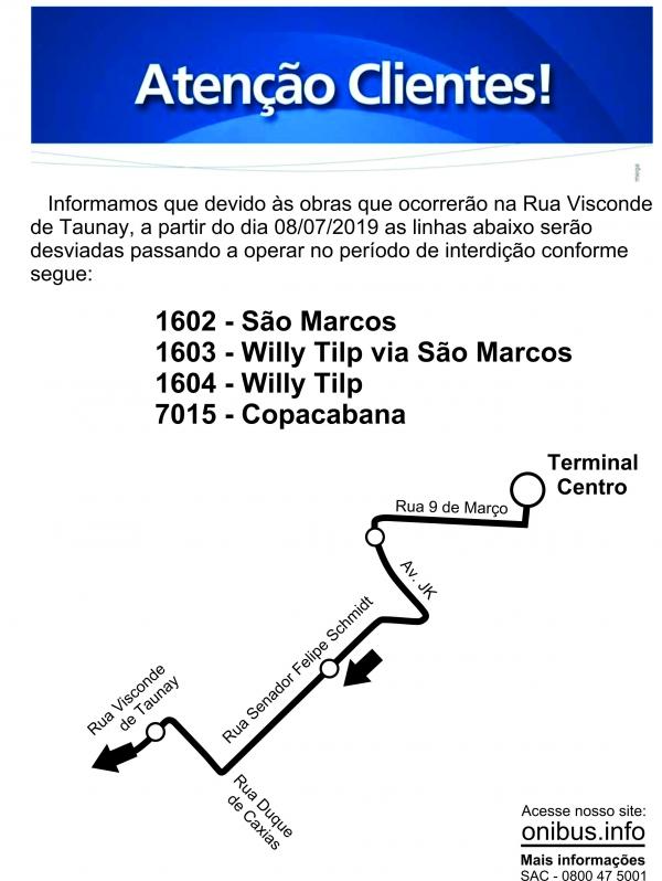 INTERDIÇÃO RUA VISCONDE DE TAUNAY
