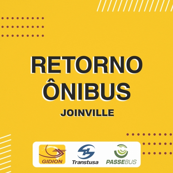 Retorno transporte coletivo urbano Joinville a partir de 01/09