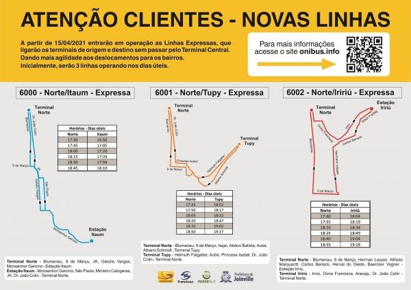 Novas Linhas Expressas a partir de 15 de abril